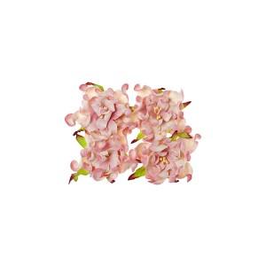 Gardenia 7Cm 4 Pcs In A Pack Pink&White