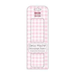 First Edition Deco Mache  Pink Gingham