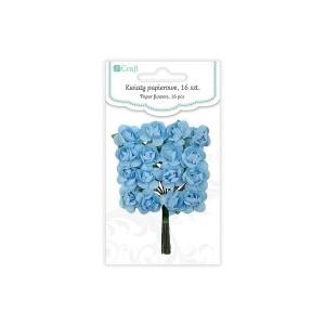 Бумажные Цветы 2См, 16 Шт Розы-Blue Sky