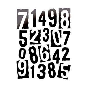 Шаблон 20X25См/0,2Mm  Numbers