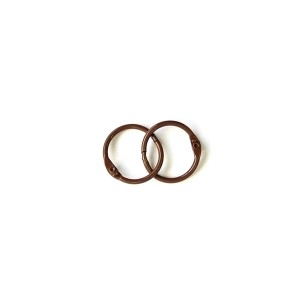 Album Metal Rings 20Mm Brown, 2Pcs