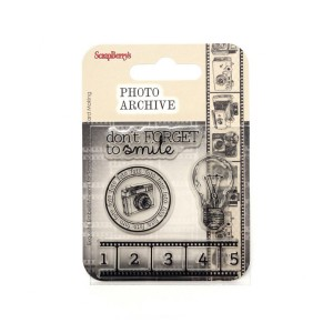 Set Of Clear Rubber Stamps 7*7 Cm  Photo Archive N
