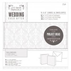 15х15Заготовки для открыток +конверты 25шт Wedding