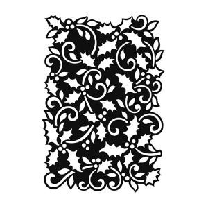 "Background Stencil ""Holly Small"" Ca. 13,5X20 Cm"