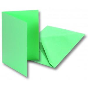 Заготовки для открыток+конверты5шт,10,5х15см