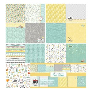 Paper Collection Set Forest Friends (12*12-190GSM)