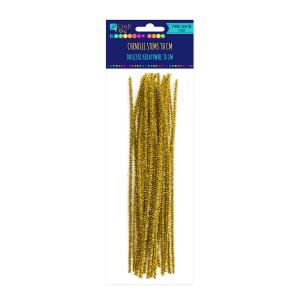 Шенильная Проволока - Золотой, 30 См, 25 Шт