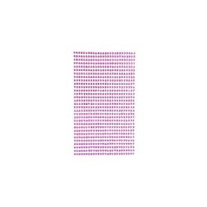 Самоклеящиеся Кристалы 3Mm, 806 Шт. Pink