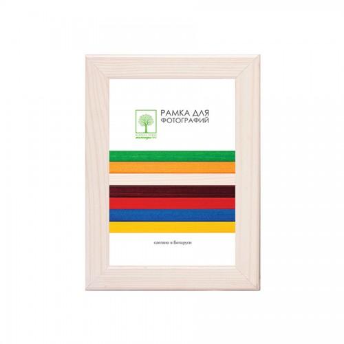 Рамка дерев. со стеклом 10х15 Д18КЛ/1374 (молочно-