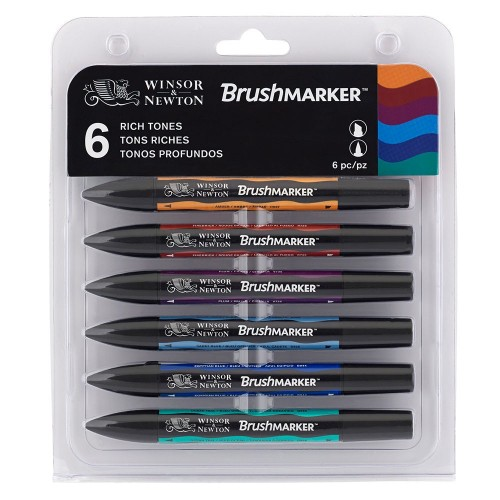WN BRUSHMARKER 6 RICH TONES