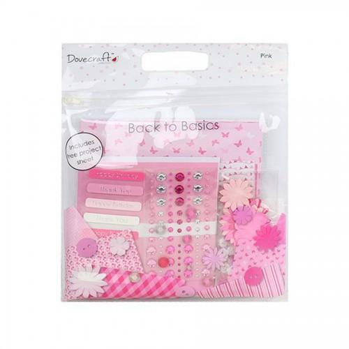 Набор бумаги  и украшений  Pink2