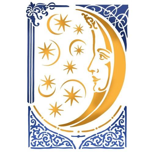 Stencil G cm. 21x29,7 Alchemy Moon