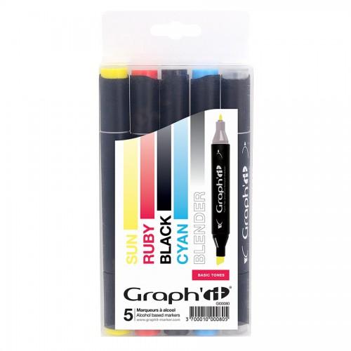 Комплект маркеров GRAPH'IT из 5 шт. - Basic