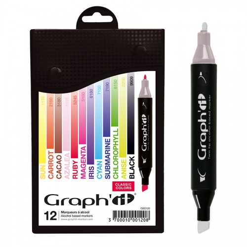 Комплект маркеров GRAPH'IT из 12 шт. - Classic