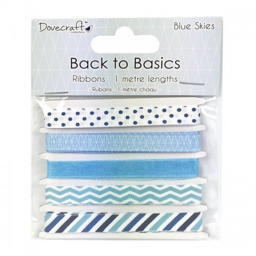 Dovecraft Back to Basics  Blue Skies Ribbons