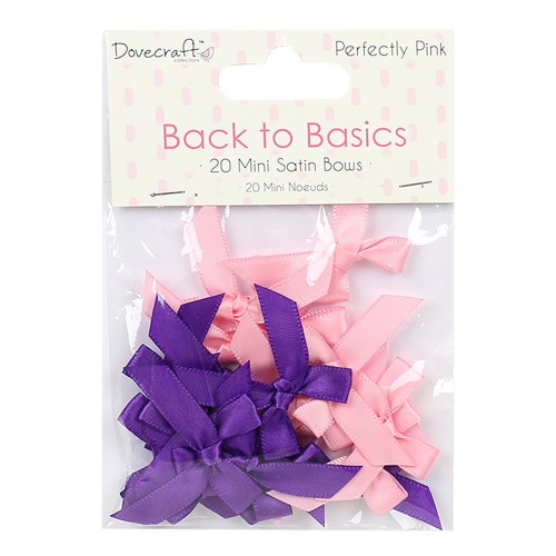 Dovecraft Back to Basics Perfectly Pink Mini Bows
