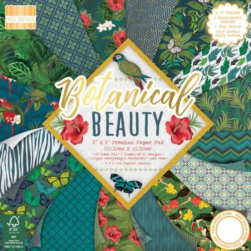 First Edition FSC 8 x 8 Botanical Beauty Paper Pad
