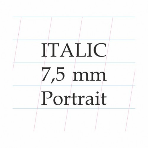 Italic Calligraphy 7,5 mm  – A4 Paper Pad (Portrai