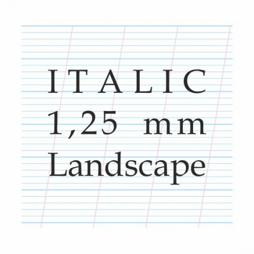 Italic Calligraphy 1,25 mm– A4 Paper Pad (Landscap