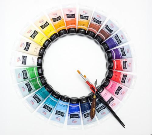 Краски акриловые  75 мл, ROSA Studio