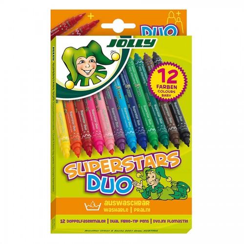 "Фломастеры ""Jolly"" Duo  12Шт"