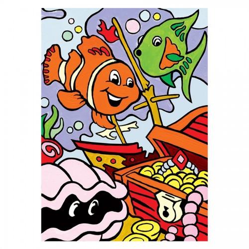 Рисование По Номерам Подводные Сокровища