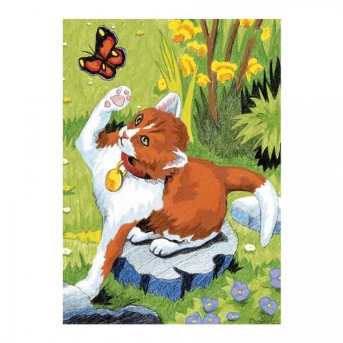 Рисование По Номерам Кошка И Бабочка
