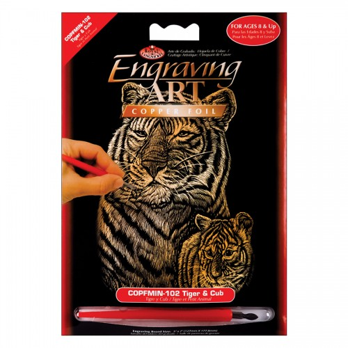 Гравюра Тигры