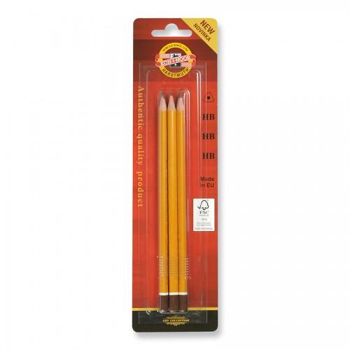Набор чернографитных  карандашей HB 3 шт,