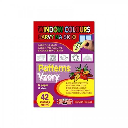 Декоративные шаблоны  для красок по стеклу 42шт