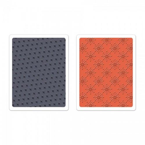 Textured Impressions Embossing Folders 2Pk - Yulet