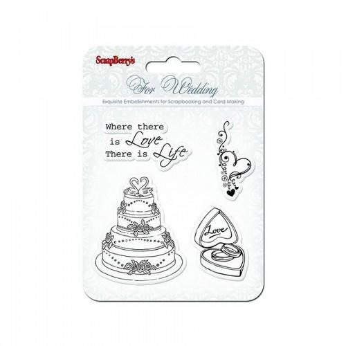 Set Of Stamps 10,5*10,5Cm Wedding Scb4901011B