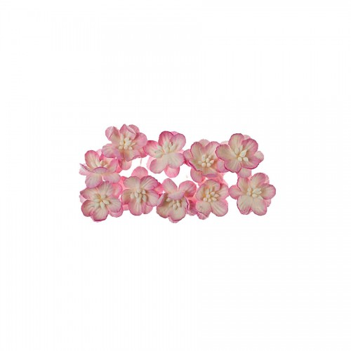 Cherry Blossom, 10 Pcs Red-White