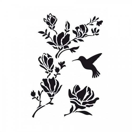 """Шаблон A3 """"Magnolia Twig"""""""