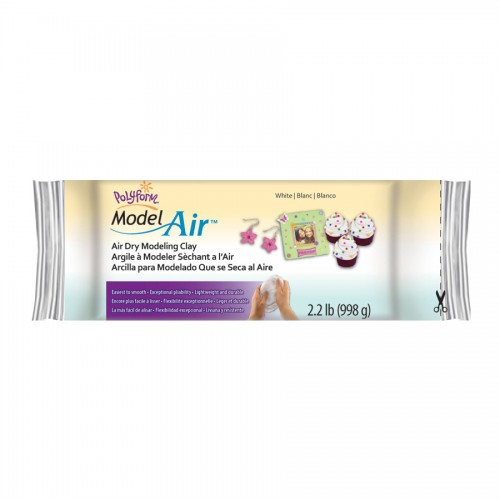Model Air Dry Clay -- White, 2.2 Lb  (1 Kg)