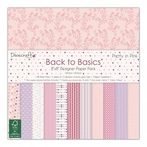 Набор бумаги 20*20см, Dovecraft, Pretty In Pink