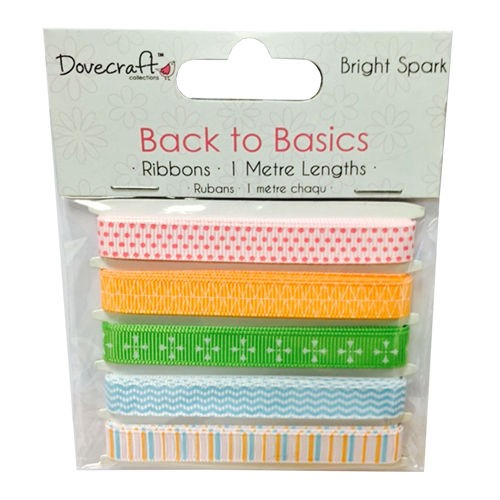 Dovecraft Back to Basics  Bright Spark Ribbons