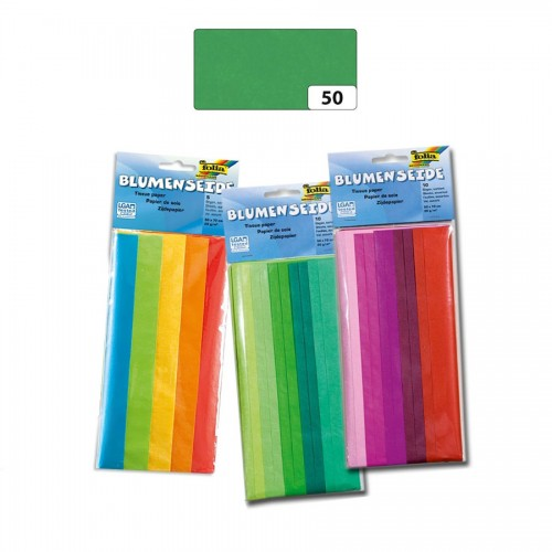 Бумага Тишью,50Х70См,5Шт,Зеленый