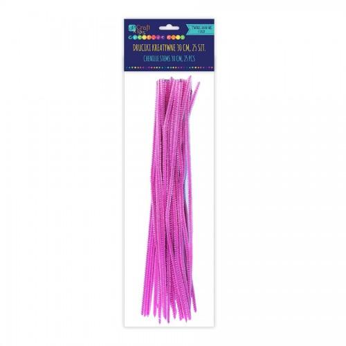 Шенильная Проволка30См, Розовый,25 Шт