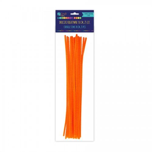 Шенильная Проволка 30См, Оранжевый,25 Шт