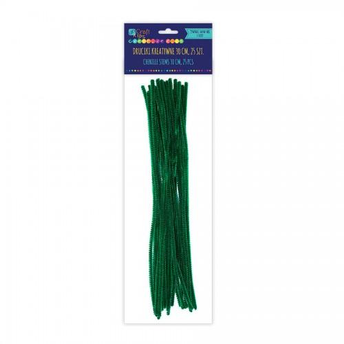 Шенильная Проволка30См, Темно-Зеленый,25 Шт