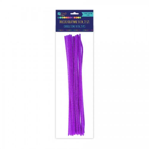 Шенильная Проволка 30См, Фиолетовый,25 Шт