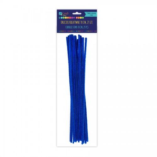 Шенильная Проволка 30См,Темно Синий ,25 Шт