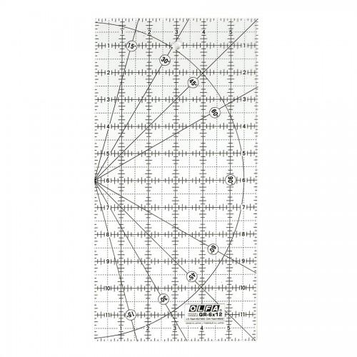 Olfa® Дюймовая Разметочная Линейка(15X 30Cm)