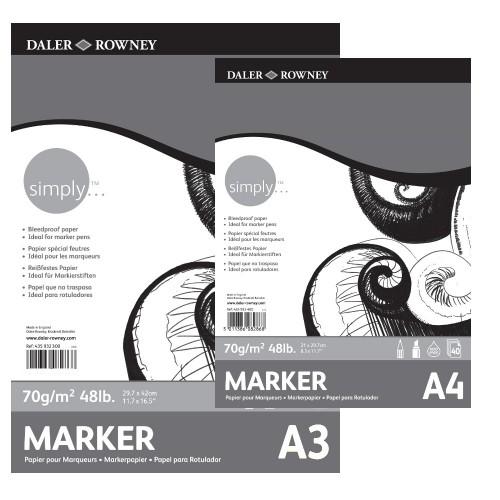 Бумага для маркеров,А3,40л,70г/м