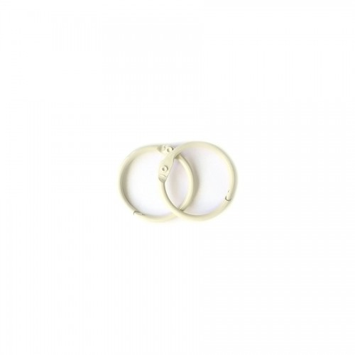 Album Metal Rings 25Mm Ivory, 2Pcs