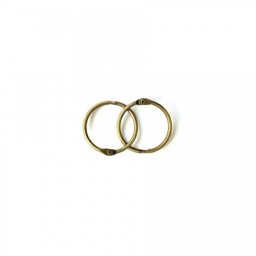 Album Metal Rings 20Mm Antique-Brass, 2Pcs