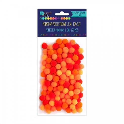 Помпоны Из Полиэстра 1См - Микс Оранжевый,120 Шт
