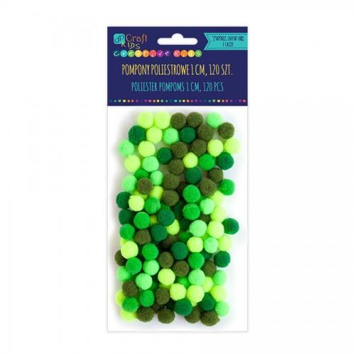 Помпоны Из Полиэстра 1 См Микс Зеленый, 120 Шт