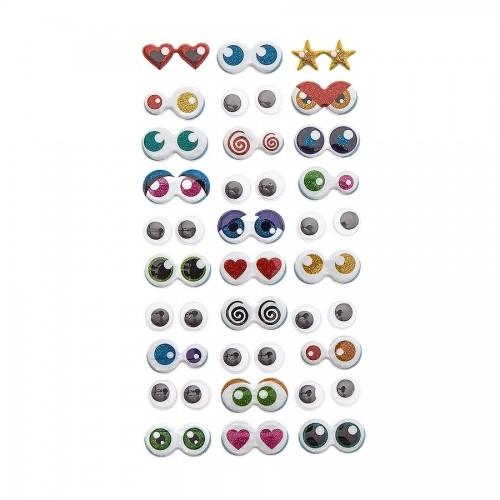 Подушковые Наклейки - Глаза, 30 Шт